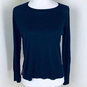 Zara knit sweater lightweight split hem Sz small